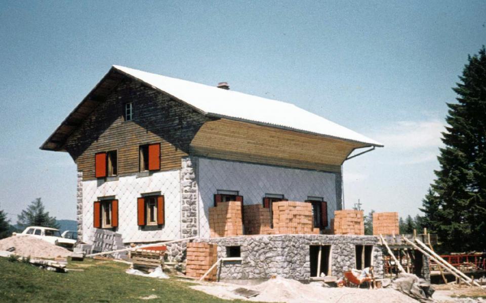 travaux d'agrandissement en 1972