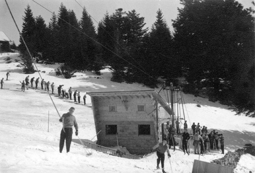 le téléski achevé en 1954