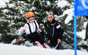 ski alpin entrainement à la compétition