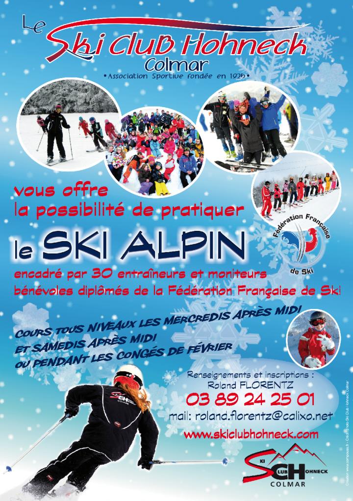 affiche cours de ski